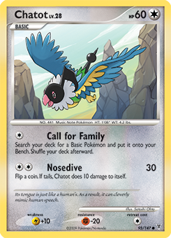Chatot card for Supreme Victors