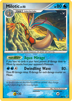 Milotic card for Supreme Victors