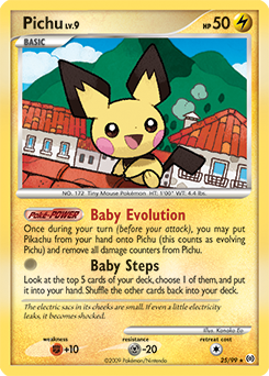 Pichu card for Arceus