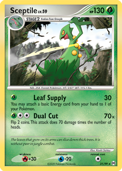 Sceptile card for Arceus