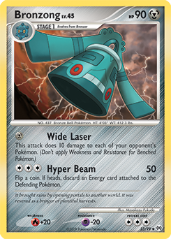 Bronzong card for Arceus