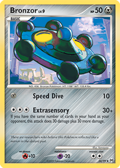 Bronzor card for Arceus