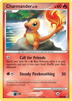Charmander card for Arceus