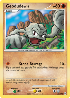 Geodude card for Arceus