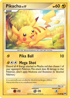 Pikachu card for Arceus