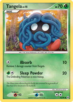 Tangela card for Arceus