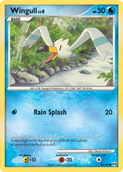 Wingull card for Arceus