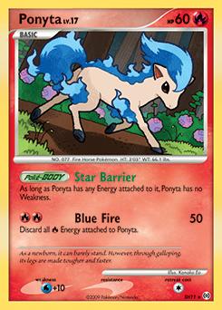 Ponyta card for Arceus