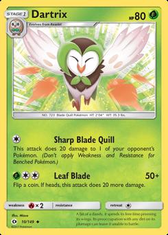 Dartrix card for Sun & Moon