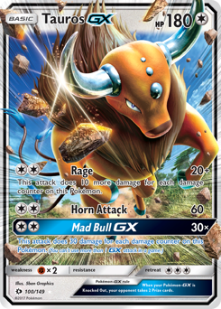 Tauros-GX card for Sun & Moon