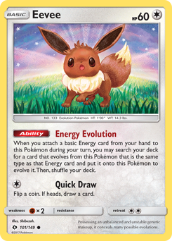 Eevee card for Sun & Moon