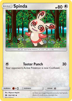 Spinda card for Sun & Moon