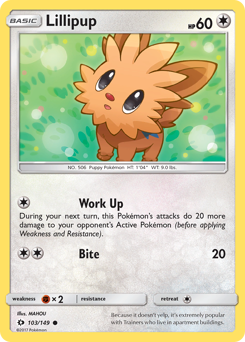 Lillipup card for Sun & Moon