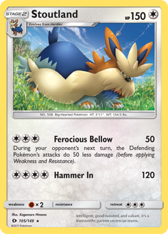 Stoutland card for Sun & Moon