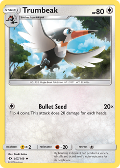 Trumbeak card for Sun & Moon