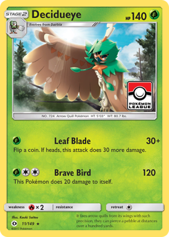Decidueye card for Sun & Moon
