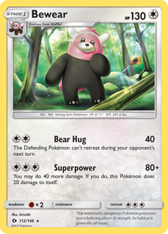Bewear card for Sun & Moon