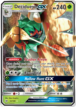 Decidueye-GX card for Sun & Moon