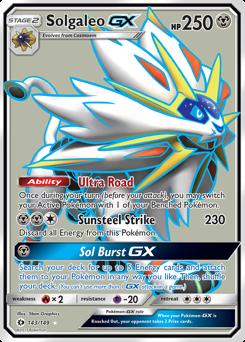 Solgaleo-GX card for Sun & Moon
