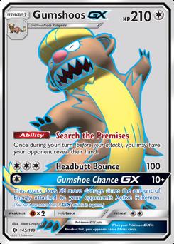 Gumshoos-GX card for Sun & Moon