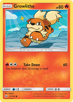 Growlithe card for Sun & Moon