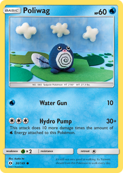 Poliwag card for Sun & Moon