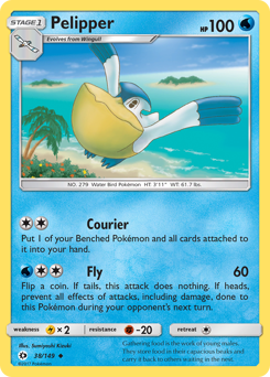 Pelipper card for Sun & Moon