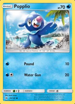 Popplio card for Sun & Moon