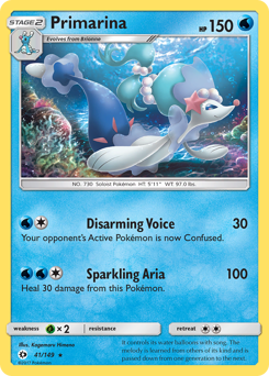 Primarina card for Sun & Moon