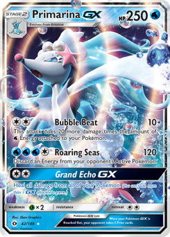 Primarina-GX card for Sun & Moon