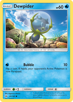 Dewpider card for Sun & Moon