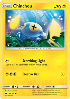 Chinchou card for Sun & Moon