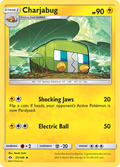 Charjabug card for Sun & Moon