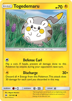 Togedemaru card for Sun & Moon