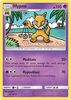 Hypno card for Sun & Moon