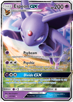 Espeon-GX card for Sun & Moon