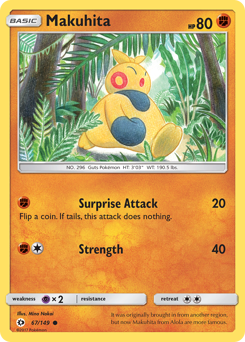 Makuhita card for Sun & Moon
