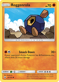 Roggenrola card for Sun & Moon