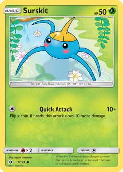 Surskit card for Sun & Moon