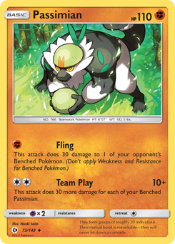 Passimian card for Sun & Moon