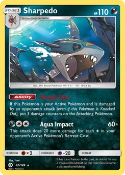 Sharpedo card for Sun & Moon
