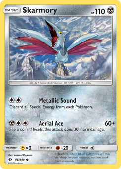 Skarmory card for Sun & Moon