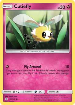 Cutiefly card for Sun & Moon