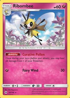 Ribombee card for Sun & Moon