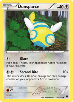 Dunsparce card for XY