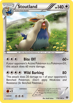 Stoutland card for XY