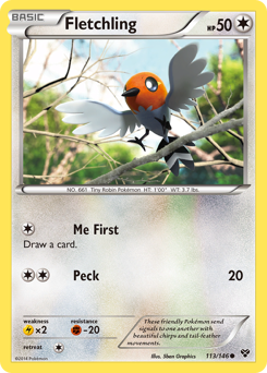 Fletchling card for XY