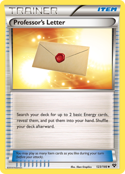 Professor's Letter card for XY