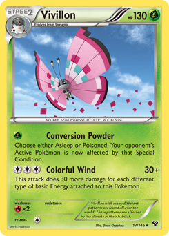 Vivillon card for XY