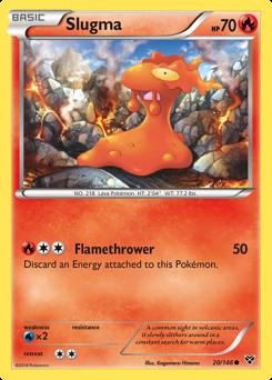 Slugma card for XY
